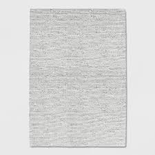 project 62 ivory chunky knit braided wool rug