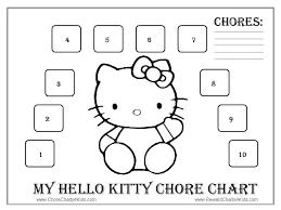 Hello Kitty Reward Chart Free Hello Kitty Reward Charts
