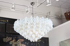 blown glass chandelier for mid century modern murano