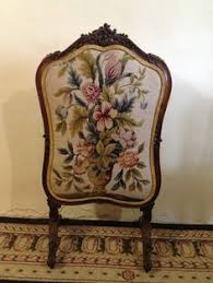 antique fire screen | 193: Antique Needlepoint Giltwood Fire ...