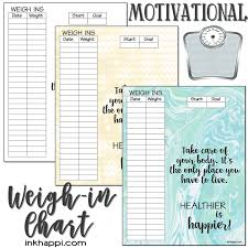 weekly weigh in charts weight tracking chart should you or shouldn t you inkhappi