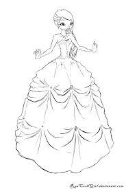 So Pretty Wedding Dress Drawingscoloring