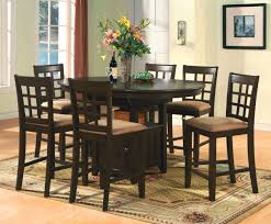 Ebay Kitchen Table And Chairs Oval Counter Height Dining Set 7pc Table 6 Bar Stools Dark