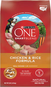 Purina One Smartblend Chicken Rice Adult Formula Dry Dog Food 8 Lb Bag