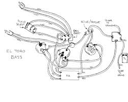 El toro e bass wiring diagram hand drawn by paul gagon