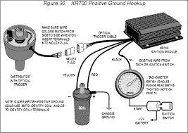 electronic ignition crane allison xr700 diagram above is for negative earth connection showing impulse tach diagram below is for positive earth connection showing inductive tach