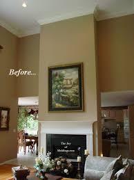 art over fireplace mantel 11