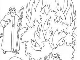 Small Picture Colouring Pages Moses And The Burning Bush Coloring Page New In