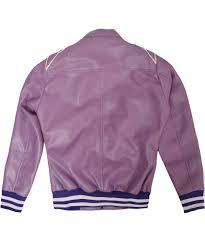 womens puprle er leather jacket
