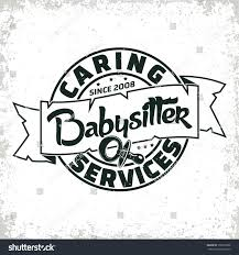 Babysitter Logo Vintage Logo Graphic Design Print Stamp Stock Vector Royalty Free