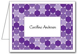 purple note cards personalized shades of purple circles folded note cards