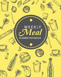 Weekly Food Menu Chart Weekly Meal Planner Notebook 52 Weeks Track And Plan Your