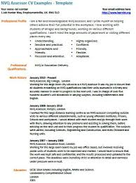 Nvq Assessor Cv Example Learnist Org