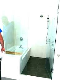 bathtub shower combo design ideas showers compact bath combination the modern tub corner with