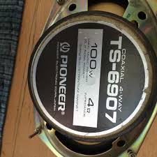vintage pioneer car speakers. vintage pioneer ts-6907 / 4 way 100 watt car stereo speakers e