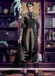 Best Designer Salwar Suits Online Best Black Zari Work Designer Salwar Suit