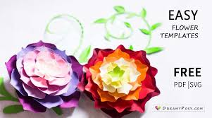 Flowers Templates Flower Templates Free Pdf Svg Png Files Super Easy Tutorial