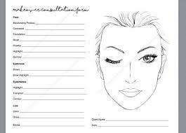 makeup consultation form makeover artist face chart doent template digital copy unlimited prints