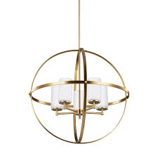sea gull lighting alturas 27 25 in w 5 light satin bronze single tier chandelier