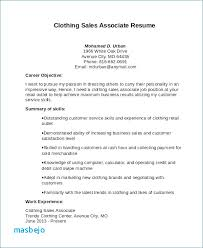 Sales Associate Resume Unique Sales Associate Job Description Resume Example Retail Sales