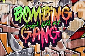 Graffiti Font Free Bombing Gang Graffiti Bold Fontother Font Ifonts Xyz