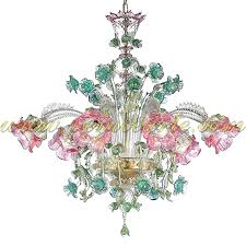 glass flower chandelier glass chandelier hand blown glass flower chandelier
