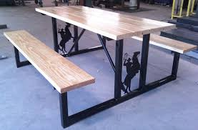 welding coffee table ideas. beautiful metal picnic tables 98 in home decorating ideas with welding coffee table