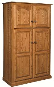 amish country traditional kitchen pantry storage cupboard of oak kitchen pantry cabinet