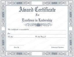 Best Certificate Templates Free Printable Best Leader Award Certificate Template