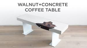 concrete and wood furniture. Concrete Coffee Table With A Walnut Inlay And Wood Furniture D