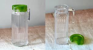glass jug with lid 1 1 litre great value attractive jug fits in fridge door dishwasher safe