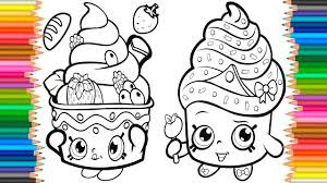 Coloring Coloring Pages Cupcake Queen Shopkins Book Videos For