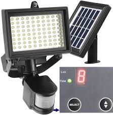 amazon com flood security lights tools home improvement 80 led outdoor solar motion light digitally adjustable bright outdoor lighting
