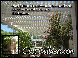 this arbor shade bar patio cover also