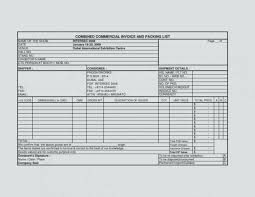 Commercial Shipping Invoice Fascinating Commercial Invoice Packing List Template And Excel Of Arabnorma
