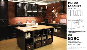 Cuisine Ikea Metod Façades Laxarby Noir Idée De Modèle De Cuisine