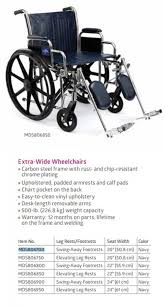 Extra Wide Pocket Chart Medline Extra Wide Wheelchairs Active Forever