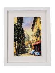 framed vatican city street scene print