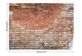 old brick wall paper mural at