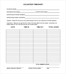 daily timesheet template free printable sample volunteer timesheet 9 example format