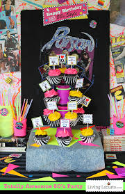 awesome 80 s birthday party ideas go back to the 1980 s with these rad neon birthday