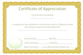 Employee Recognition Certificates Templates Free Appreciation