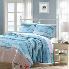 ocean themed comforters. Delighful Themed Ocean Themed Bedding Nautical Blue 100percent Cotton Bedding Quilt And  Sham Set King Size For Comforters E