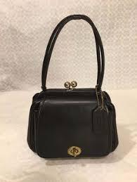 Vintage COACH Black Cashin DOUBLE KISS LOCK c.1950 BAG Handbag EXTREMLY  RARE EXC