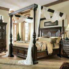 Wood Canopy Bed Frame Full Size Wooden – getvue