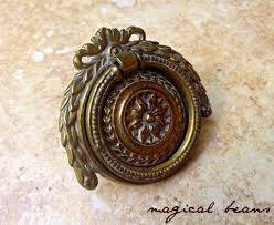 Vintage Keeler Brass Co Celtic Knots Antiqued Brass Round Pull