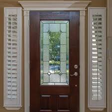 Entry Door Sidelight Window Shutters  Cleveland ShuttersBlinds For Small Door Windows