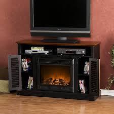 com sei antebellum a console with electric fireplace black walnut kitchen dining