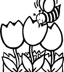 Spring Flower Coloring Pages Free Printable Pdf Simple Vase For