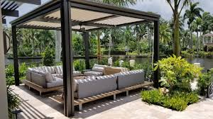 arcadia louvered roofs by blue sky outdoor